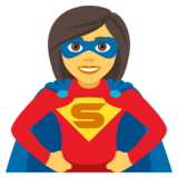 Woman Superhero on JoyPixels 4.5