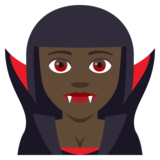 Woman Vampire: Dark Skin Tone on JoyPixels 4.5