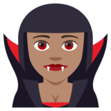 Woman Vampire: Medium Skin Tone on JoyPixels 4.5