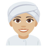 Woman Wearing Turban: Medium-Light Skin Tone on JoyPixels 4.5