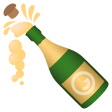 Bottle With Popping Cork on JoyPixels 5.0