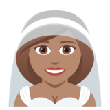 Person With Veil: Medium Skin Tone on JoyPixels 5.0