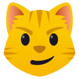 Cat with Wry Smile on JoyPixels 5.0