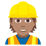 Construction Worker: Medium Skin Tone on JoyPixels 5.0