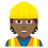 Construction Worker: Medium-Dark Skin Tone on JoyPixels 5.0