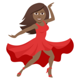 Woman Dancing: Medium-Dark Skin Tone on JoyPixels 5.0