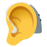 Ear with Hearing Aid on JoyPixels 5.0