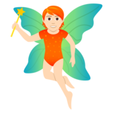 Fairy: Light Skin Tone on JoyPixels 5.0