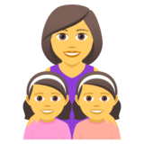 Family: Woman, Girl, Girl on JoyPixels 5.0