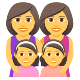 Family: Woman, Woman, Girl, Girl on JoyPixels 5.0