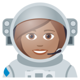 Woman Astronaut: Medium Skin Tone on JoyPixels 5.0