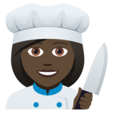Woman Cook: Dark Skin Tone on JoyPixels 5.0