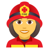 Woman Firefighter on JoyPixels 5.0