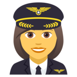 Woman Pilot on JoyPixels 5.0