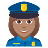 Woman Police Officer: Medium Skin Tone on JoyPixels 5.0