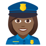Woman Police Officer: Medium-Dark Skin Tone on JoyPixels 5.0