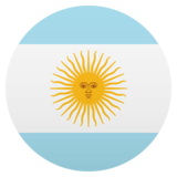 Flag: Argentina on JoyPixels 5.0