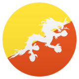 Flag: Bhutan on JoyPixels 5.0