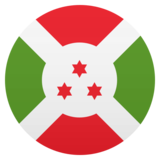 Flag: Burundi on JoyPixels 5.0