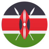 Flag: Kenya on JoyPixels 5.0