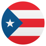 Flag: Puerto Rico on JoyPixels 5.0