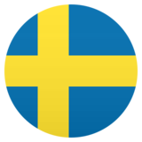 Flag: Sweden on JoyPixels 5.0