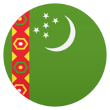 Flag: Turkmenistan on JoyPixels 5.0