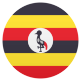 Flag: Uganda on JoyPixels 5.0