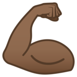 Flexed Biceps: Medium-Dark Skin Tone on JoyPixels 5.0