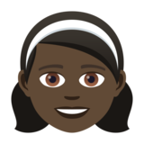 Girl: Dark Skin Tone on JoyPixels 5.0
