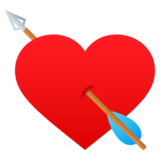 Heart with Arrow on JoyPixels 5.0