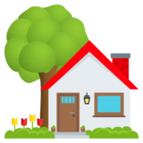 House with Garden on JoyPixels 5.0