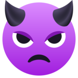 Angry Face with Horns on JoyPixels 5.0