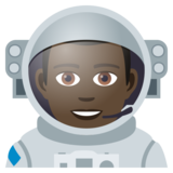 Man Astronaut: Dark Skin Tone on JoyPixels 5.0