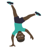 Man Cartwheeling: Dark Skin Tone on JoyPixels 5.0