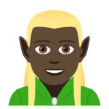 Man Elf: Dark Skin Tone on JoyPixels 5.0