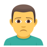 Man Frowning on JoyPixels 5.0