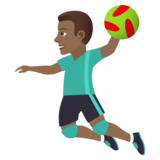 Man Playing Handball: Medium-Dark Skin Tone on JoyPixels 5.0