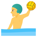 Man Playing Water Polo on JoyPixels 5.0