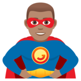 Man Superhero: Medium Skin Tone on JoyPixels 5.0