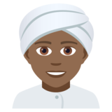 Person Wearing Turban: Medium-Dark Skin Tone on JoyPixels 5.0