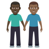 Men Holding Hands: Dark Skin Tone, Medium-Dark Skin Tone on JoyPixels 5.0