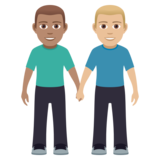 Men Holding Hands: Medium Skin Tone, Medium-Light Skin Tone on JoyPixels 5.0