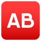 AB Button (Blood Type) on JoyPixels 5.0