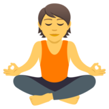Person in Lotus Position on JoyPixels 5.0