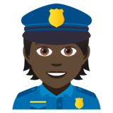 Police Officer: Dark Skin Tone on JoyPixels 5.0