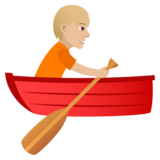 Person Rowing Boat: Medium-Light Skin Tone on JoyPixels 5.0