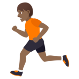 Person Running: Medium-Dark Skin Tone on JoyPixels 5.0