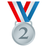 2nd Place Medal on JoyPixels 5.0