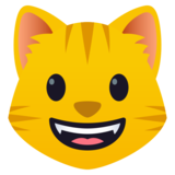 Grinning Cat Face on JoyPixels 5.0